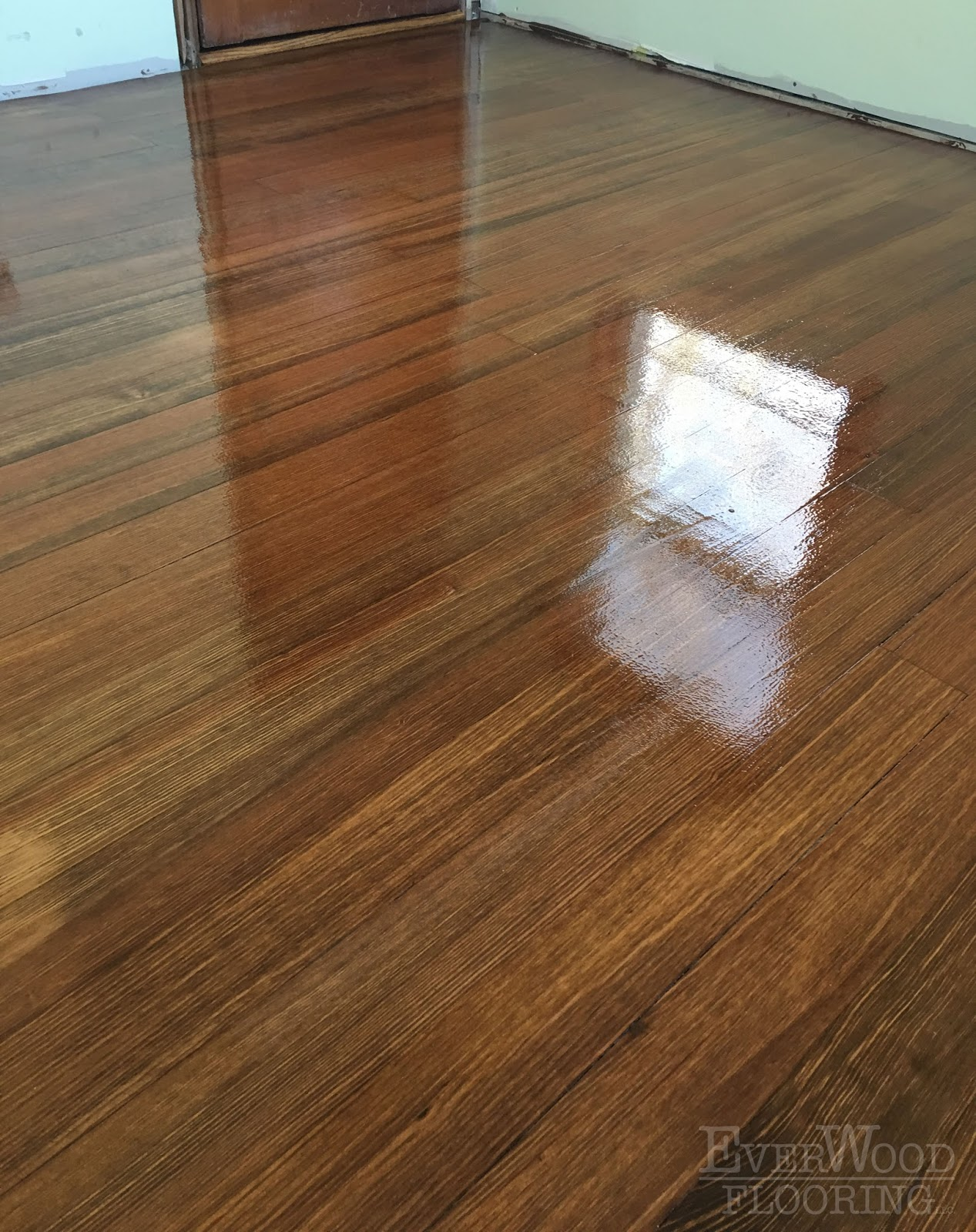 Fir Wood Floor Water Based Refinish With Stain Nashua Nh
