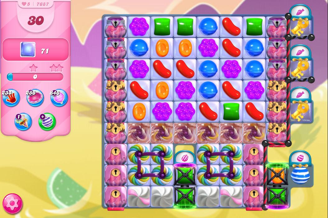 Candy Crush Saga level 7687