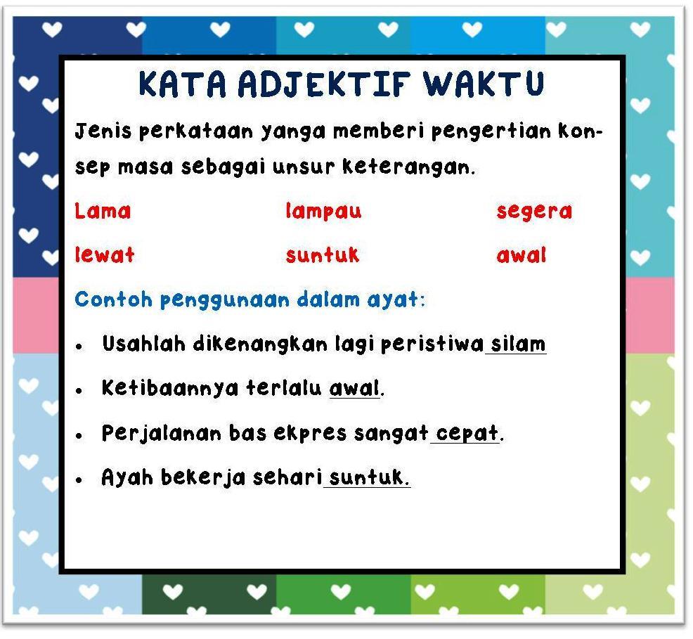 Kata Sifat Adjektif I Nota Bahasa Malaysia
