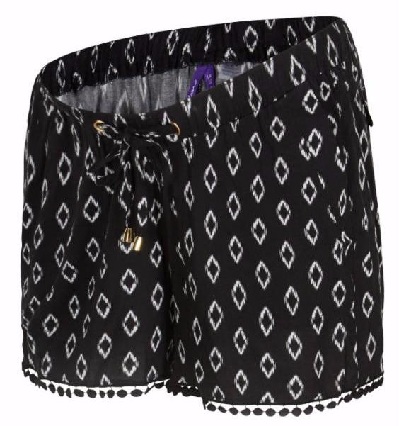 Seraphine Woven Printed maternity shorts