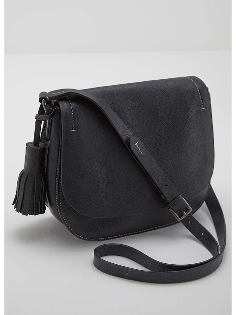 MINt velvet katrina black saddle bag