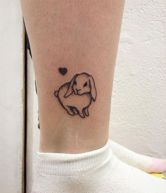 tatuagens femininas de coelho