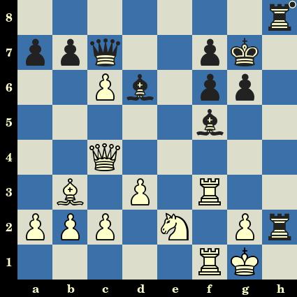 Les Noirs jouent et matent en 3 coups. Samuel Rosenthal vs Carl Oscar Ahues, Hambourg, 1910