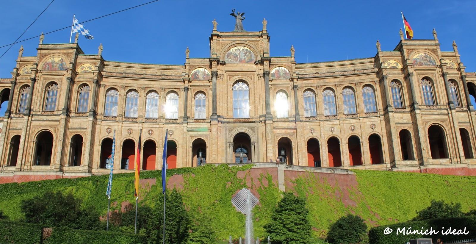 Maximilianeum sede del parlamento de baviera y hogar de for Sede del parlamento