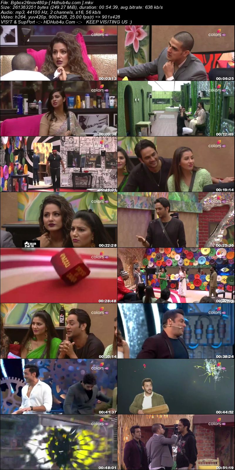 Bigg Boss S11E57 26th November 2017 HDTV 480p 250MB Download