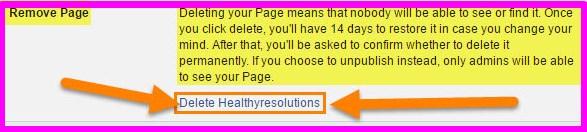 delete a facebook fan page