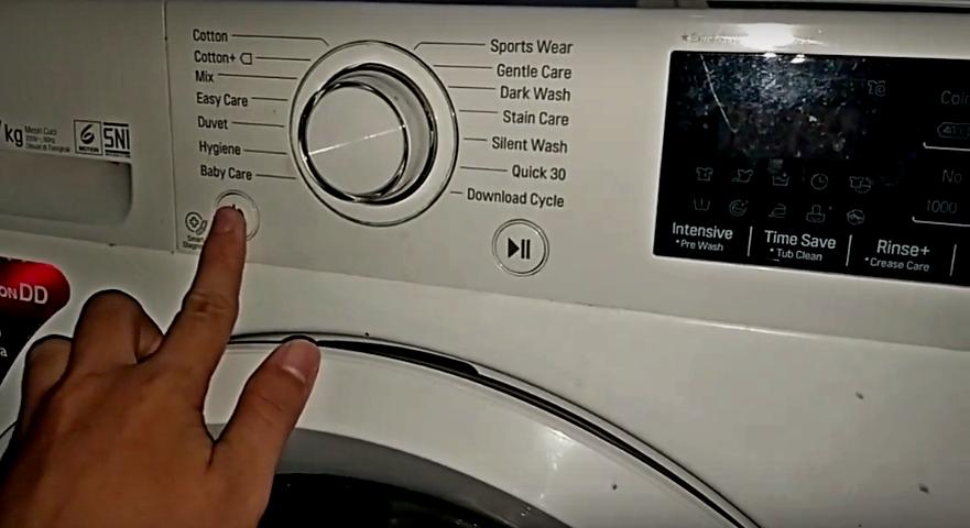 Cara Spin Mengeringkan Saja Tanpa Mencuci Di Mesin Cuci Frontloading Lg Electramaster