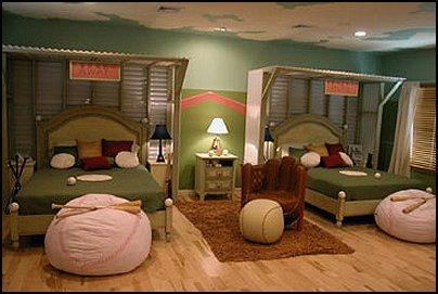 Baseball Bedroom Decorating Ideas Decor Boys Theme Bedrooms Room