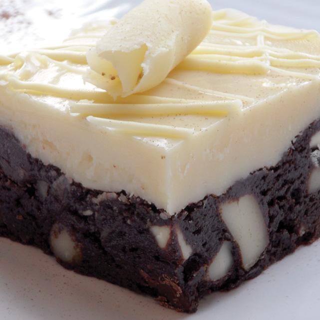 White Chocolate Macadamia Brownies