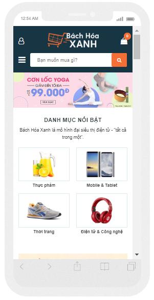Template blogspot bán hàng chuẩn seo trên di động dọc