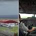 Aterragem do A310 da Azores Airlines em Ponta Delgada com ventos cruzados. (Vista do exterior e do cockpit)