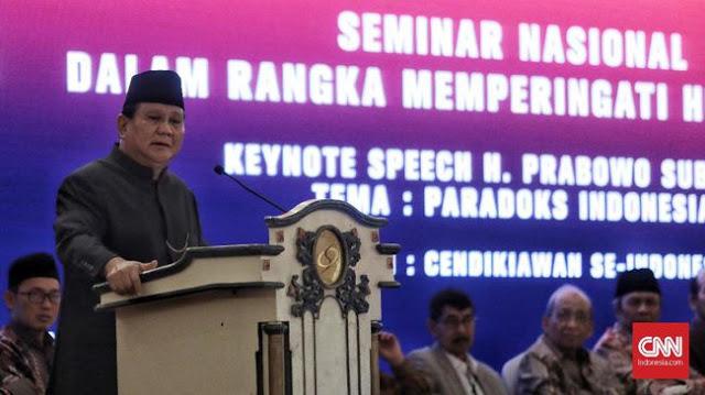 Prabowo Senang Gatot Nurmantyo Bergabung