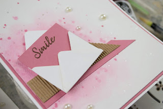 With the pretty watercolor background, created with Liquid Color, This pretty card is perfect for any occasion.