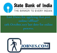 State Bank of India Recruitment 2017  for various posts  apply online here