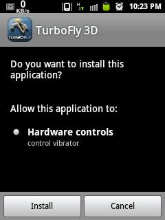 TurboFly 3D apk ARMV6  Galaxy Young