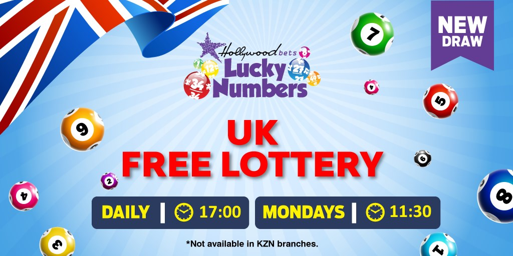 UK Free Lottery - Daily 17:00 - Weekly on Mondays 11:30 - Lucky Numbers - Hollywoodbets