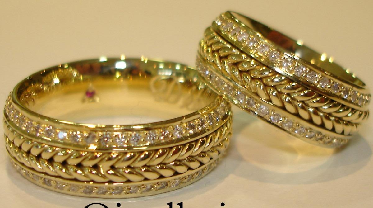 8a4ca53f06927 Alianças de Casamento e Noivado em Ouro 18K JoiasBrasil - alianças de  casamento valores