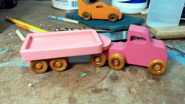 2017-05-11 04.22.32 - Wooden Toy - Play Pal - Trailer Truck - Pink