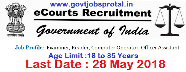 ecourts recruitment 2018