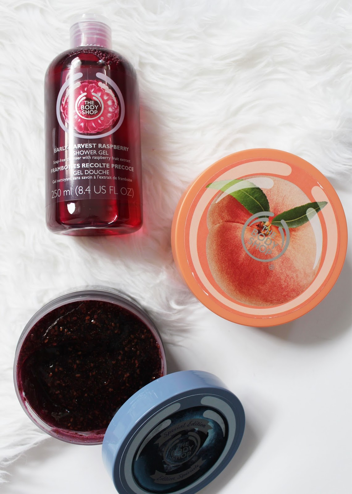 THEY'RE BACK! | The Body Shop Early Harvest Raspberry, Blueberry + Vineyard Peach - CassandraMyee