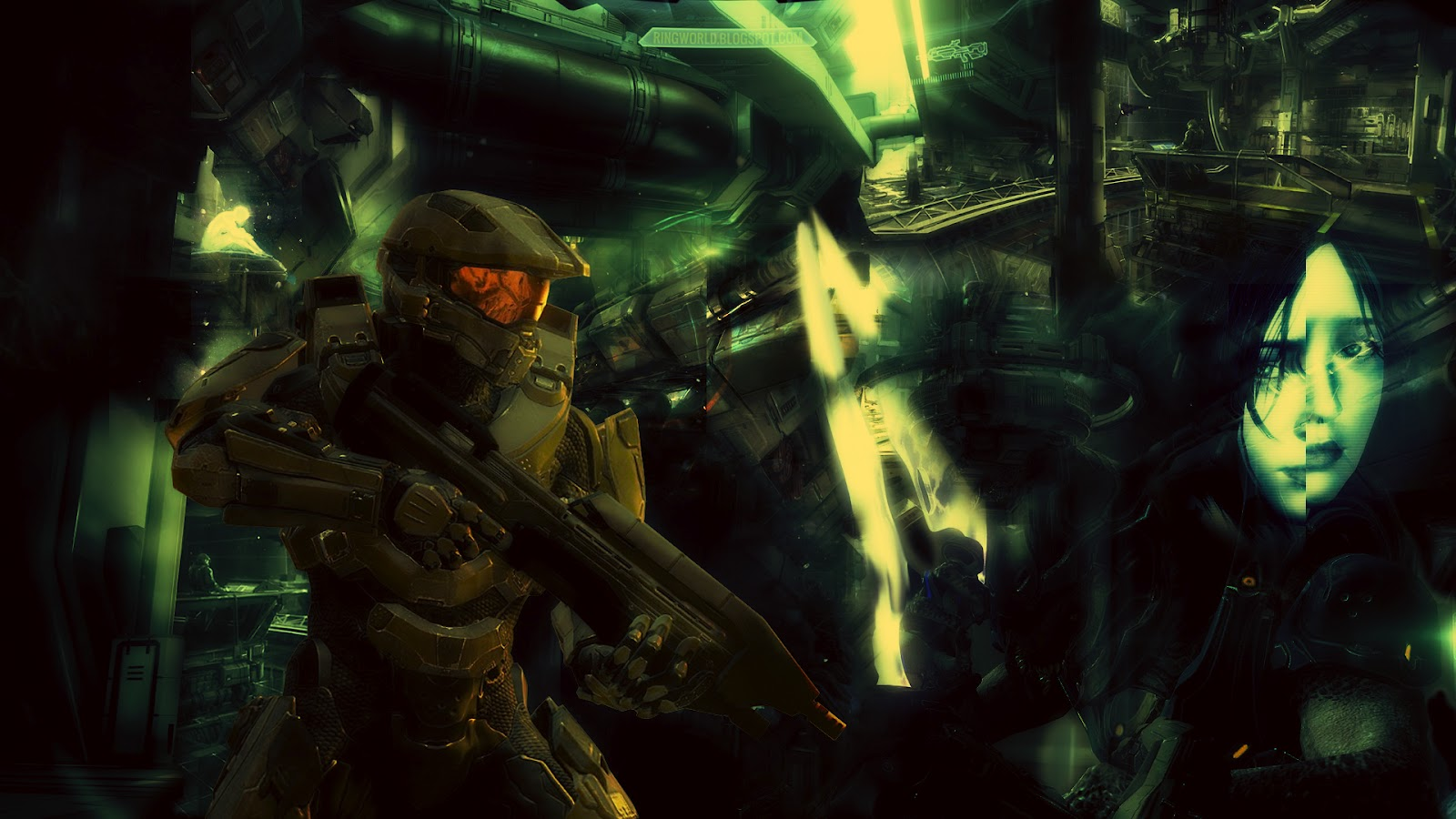 Ring World Halo 4 Master Chief Wallpapers