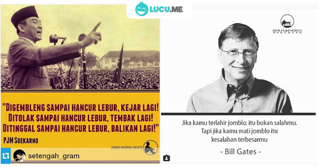 10 Meme 'Quotes Cinta' dari Tokoh Ini Bikin Jomblo Semangat Hidup Lagi