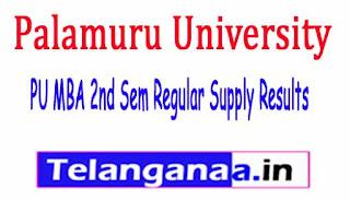 PU MBA 2nd Sem Regular Supply Results 2017
