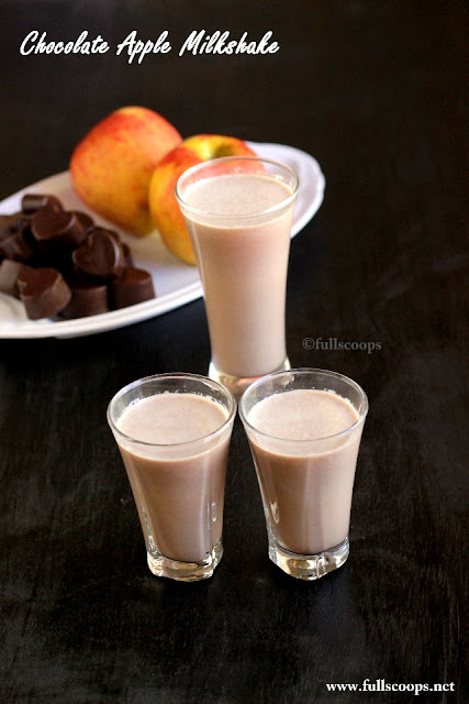 Chocolate Apple Milkshake