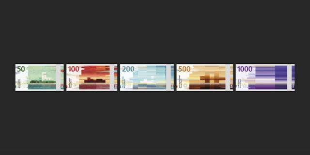 Los nuevos billetes del banco de Noruega