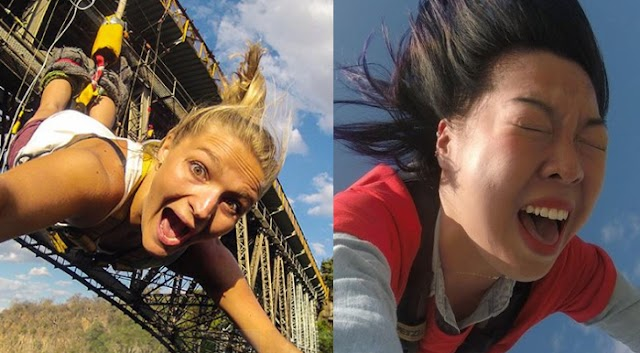 20 Most Hilarious Bungee Jumping face Expressions of People Caught on Camera