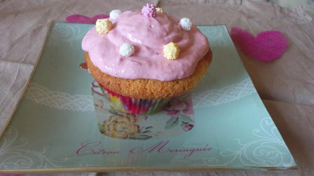 Cupcake à la fraise