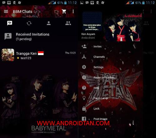 Free Download BBM Mod Babymetal v2.10.035 Android Terbaru 2017 Gratis