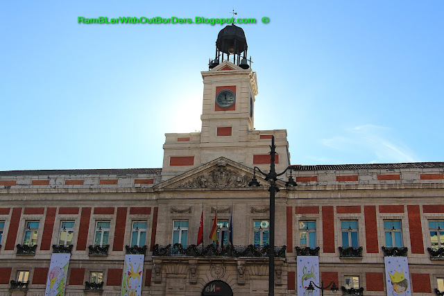 Clock Tower, Real Casa de Correos, Puerta del Sol, Madrid, Spain