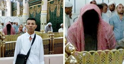 foto sosok tanpa wajah di masjid nabawi