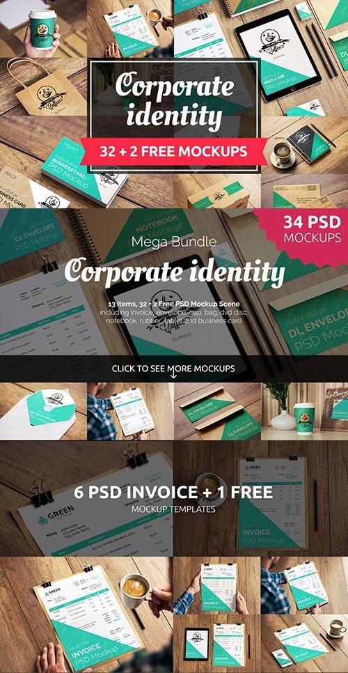 30+2 FREE CORPORATE IDENTITY MOCKUPS