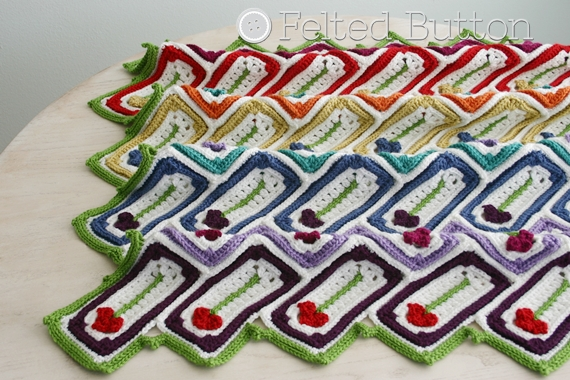 Mariposa Throw Crochet Pattern by Susan Carlson of Felted Button