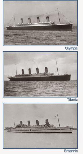 Comparativa Titanic- Olympic - Britannic