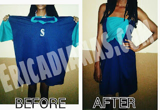 DIY-How to turn a T-Shirt into a dress