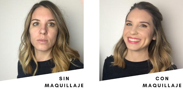 Antes y después del maquillaje