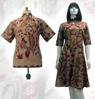 Untuk Peria Dan Sebelah Kanan Adalah Model Baju Batik Untuk Wanita