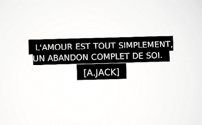 Citation d'amour tout simplement.