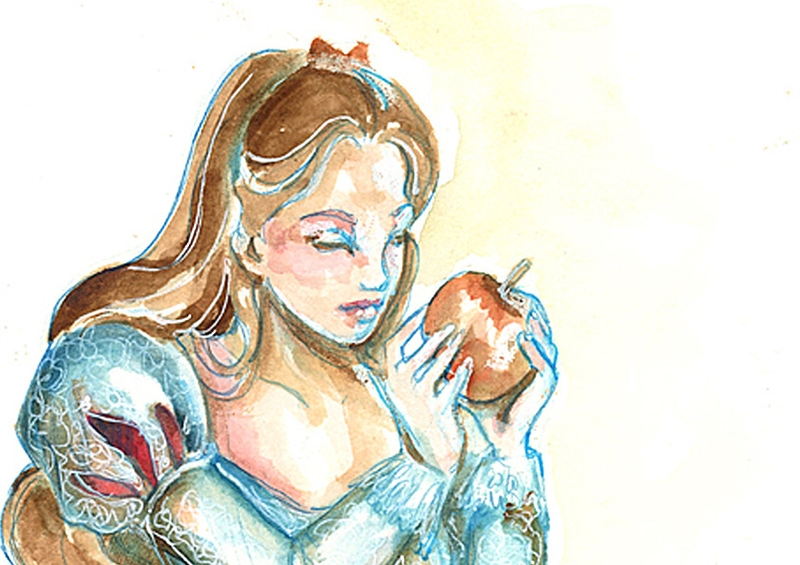 14-Snow-White-detail-Isis-Marques-Drawings-and-Paintings-with-WIP-and-Videos-www-designstack-co