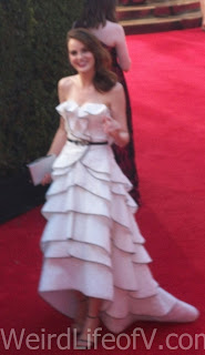 blurry picture of Michelle Dockery at the 2016 Emmys
