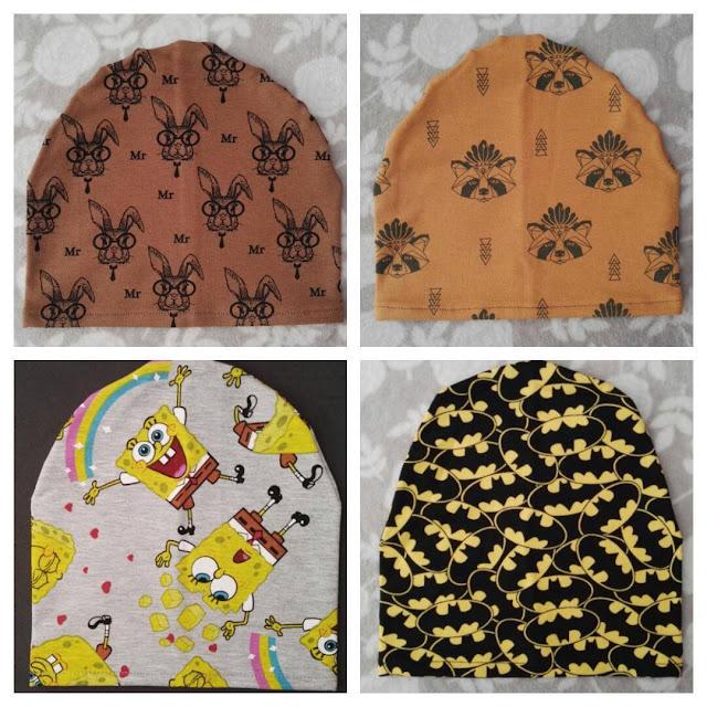 Jesień już za pasem, dni będą coraz chłodniejsze ;) Mam do zaoferowania Wam same czapki jak i czapki w komplecie z kominem. Wykonane są z kolorowej, dobrej gatunkowo dresówki.