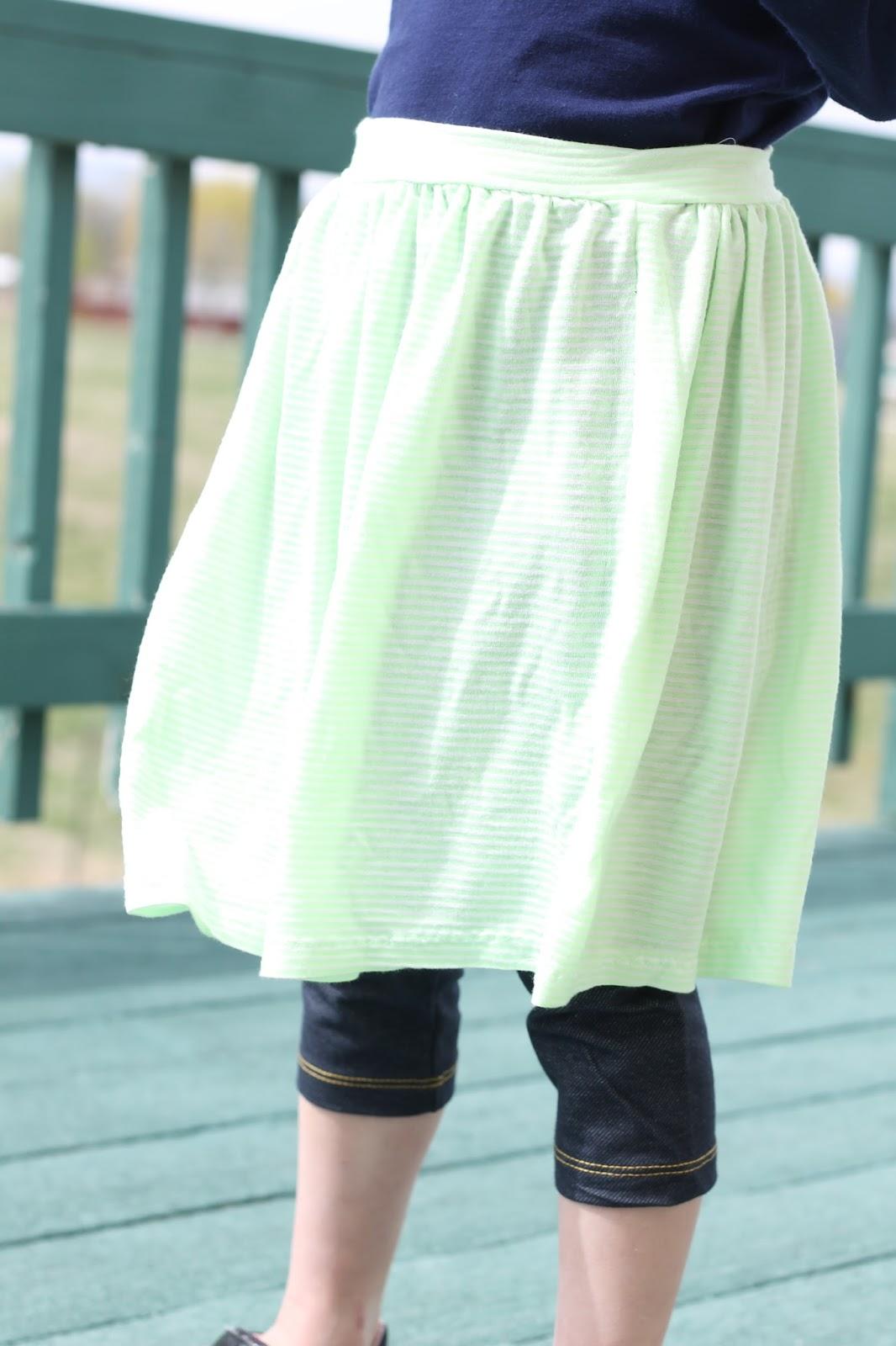 Tutorial: Quick girls skirt pattern