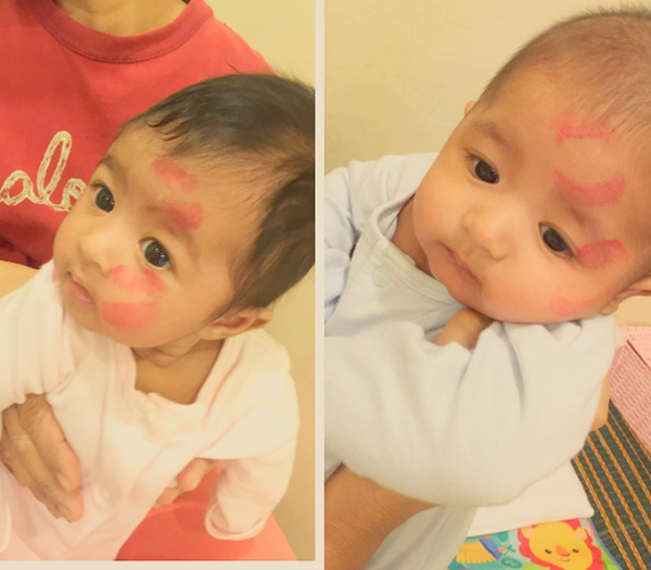 WOW...Gambar Terkini Anak Kembar Eina Azman Yang Terlajak Comel!