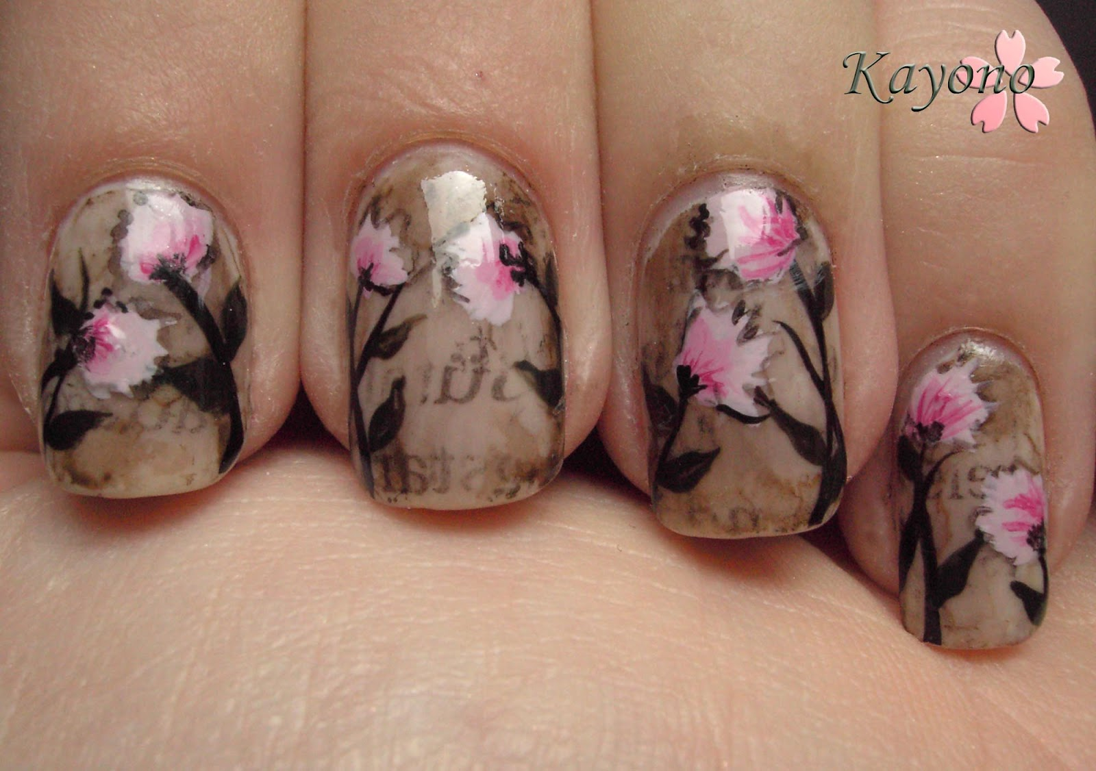 Neues Vom Kellerkind Girly Girl Nail Art Challenge Day 6 Who Inspires You