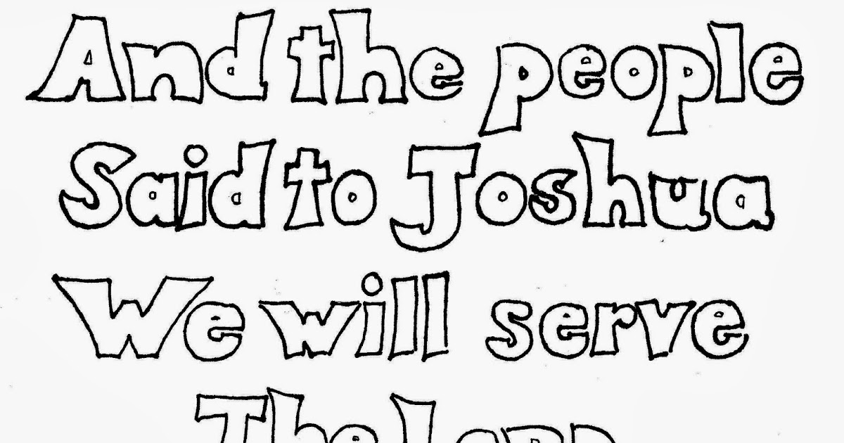 joshua 24 coloring pages - photo#4