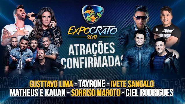 Atrações e Shows Expocrato 2017