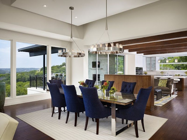 Modern Dining Table and Mix of Chocolate Brown